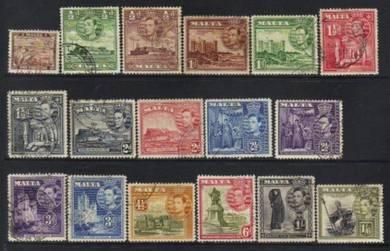 Malta kgvi 1938-1943 definitives cat 10+ bj207