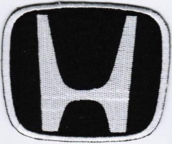 Honda Emblem Logo WHITE #TB Motor Car Racing Patch