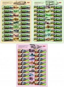 2015 SHEETLET Trains in Sabah Malaysia Stamp UM