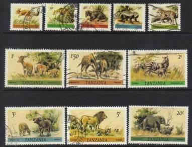 Tanzania 1980 wildlife 11 used bl400