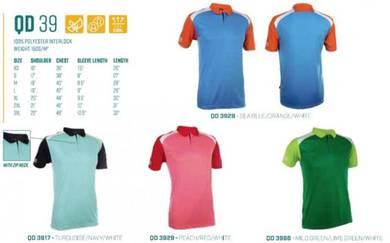 T Shirt Collar 100% Polyester Mix Unisex QD39XX