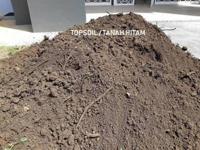 Black topsoil for planting tanah timbus pasir batu