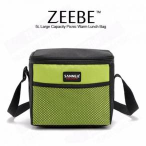 ZEEBE 5L Large Insulated Thermal Lunch Box (Green)