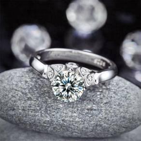 1.25 Carat Created Diamond S925 Wedding Ring