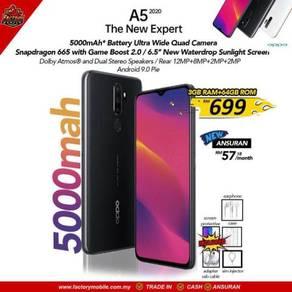 NEW Oppo a5 2020 3+64gb malaysia set 5000mah btery