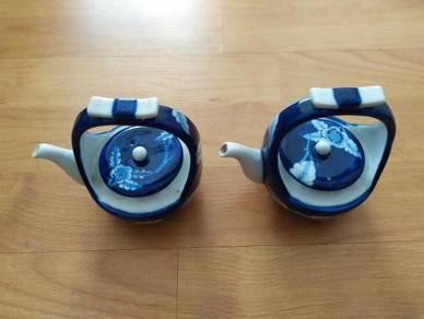 2 Thailand Small Porcelain Teapot