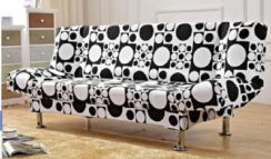 Black white sofa double seater 2 seat bed house