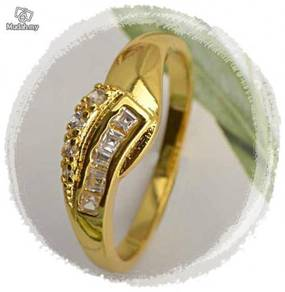 ABRGF-Z001 Chic 9K Gold Fill Top Zircon Ring-Size9