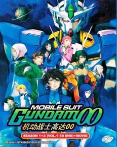 DVD ANIME Mobile Suit Gundam 00 Sea 1+2 (Vol.1-50