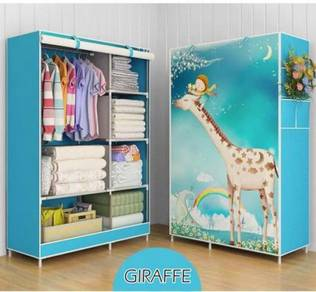 Kltn - Blue Giraffe Wardrobe Canvas