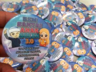 Button Badge Design Kem Santai ADH 006