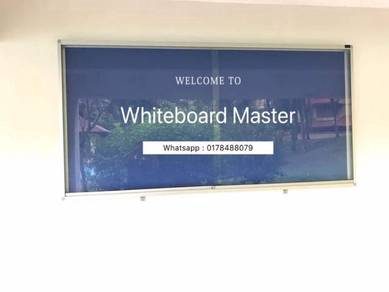 Size 4x6 sliding glass notice board cabinet