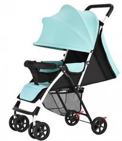 Blue biru stroller baby infant carrier light