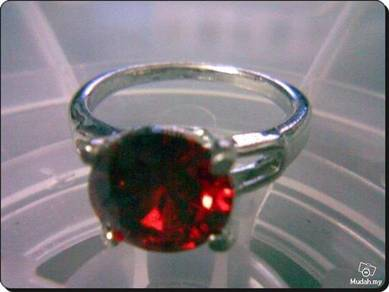ABRWG-R001 Ruby White Gold Filled Ring - Size 7