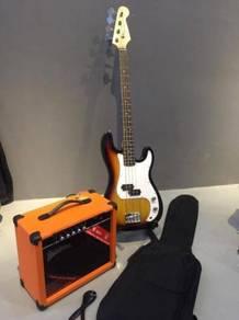 Bass guitar 15w amp package set - gitar bes SB