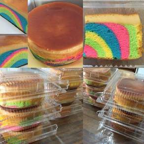 Kek Karamel Pelangi