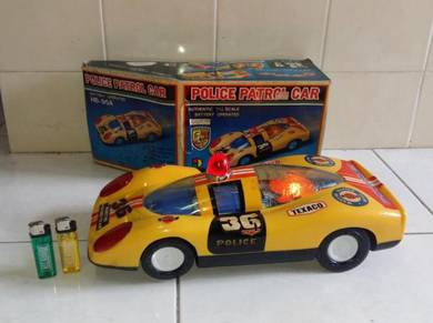 PORSCHE Police Patrol Car Scale 1:12 Vintage Toy