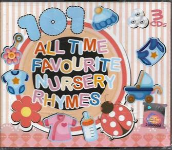 101 All Time Favourite Nursery Rhymes 3CD New Born
