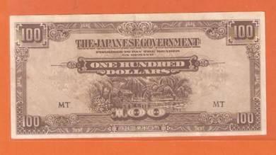 100 DoLLAR JAPANESE MALAYA 1942-45 - CC1