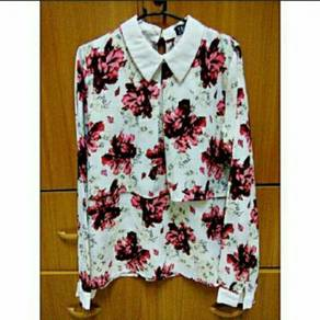 Hi Style FAVE Women Pink Floral White Blouse