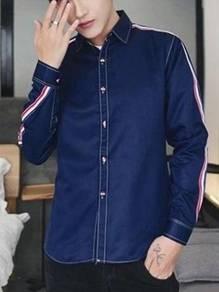 5066 Stylish Dark Blue Formal Long Sleeved Shirt