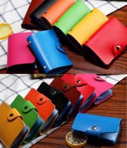 B1001 Black Multi-Card Wallet Clutch Holder Bag