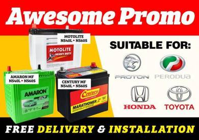 Amaron Car Battery Myvi Bezza Kancil Viva New