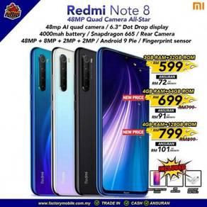New Xiaomi Redmi note 8 malaysia set + freegift
