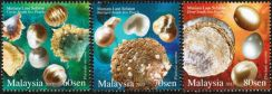 2015 Pearls Seashell Malaysia Stamp UM
