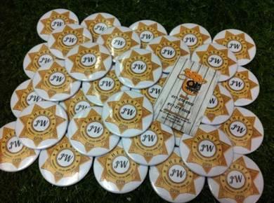 Tempahan Button Badge Logo Koprat