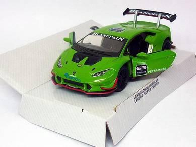Green Lamborghini Huracan LP620-2 Super trofeo