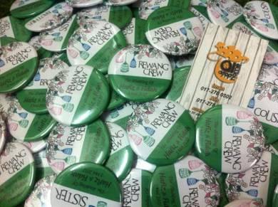Tempahan Pin Button Badge Design Prcuma