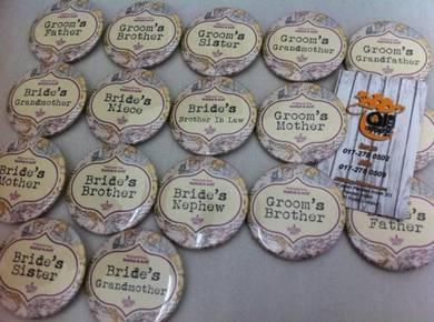 Button Badge Design Wedding Groom ADH 008
