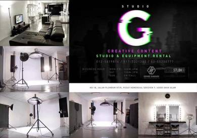 Photography & Videography studio for rental