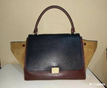Shoulder/ Tote Bag Tricolor Leather Celine Trapeze