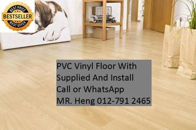 Natural Wood PVC Vinyl Floor - With Install h785