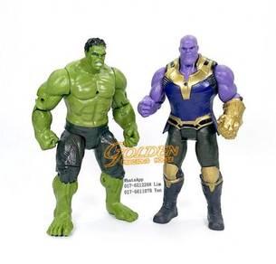 Avengers 3 Infinity War Thanos & Hulk Figures 2pcs