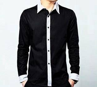 5114 Black Classic Formal Casual Long-Sleeve Shirt