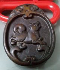 ABPJ-D090 Old Jade Dog Zodiac Pendant Necklace