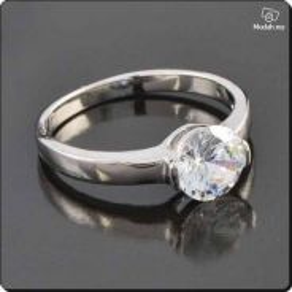 ABRWG-W006 9K White Gold Filled CZ Womens Ring Sz7