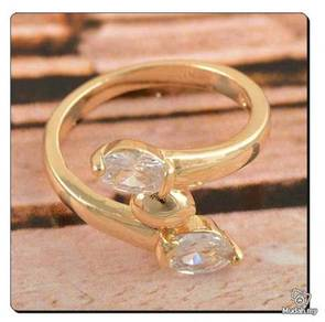 ABRGF-W001 9k Gold Filled CZ womens Ring - Size 6