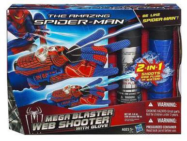 Marvel Spiderman web and water shooter