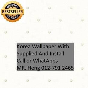 PVC Vinyl Wall paper with Expert Install hjk56