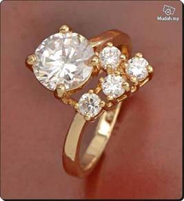 ABRGF-W002 Gorgeous 9K Gold Filled CZ Womens Ring