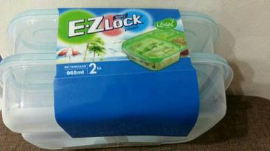 Ez-lock microwave safe food containers (set of 2)