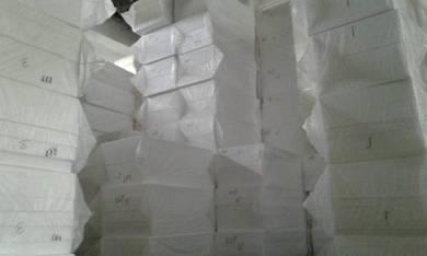 Polystyrene styrofoam poly foam polyfoam EPS gabus
