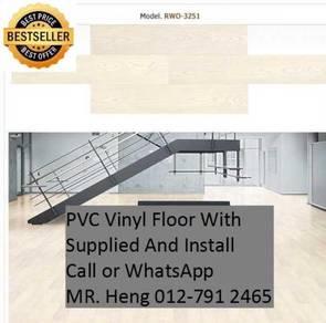 Simple Vinyl Floor with Installation hkg56