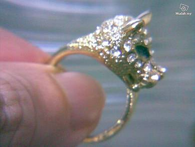 ABRGM-D003 Pretty Noble Shiny Dragon Gold Ring S85