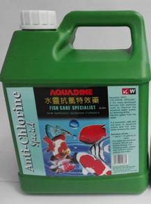 Aquadine Anti Chlorine Klorin Aquarium Fish 4Litre