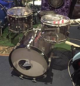 Sonor smoky perspex 16 inch bass drum bop kit conv